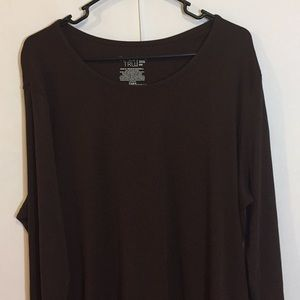 Time and Tru 3XL Brown Long Sleeved Top Plus Size